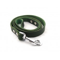 Vodítko kožené velké, zelené - 150 cm