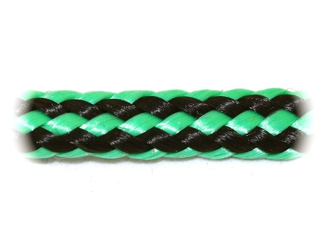 Zeleno-černá šňůra zapletená - malá